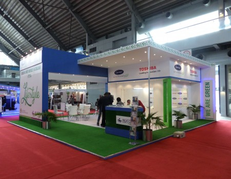 NUCON-TOSHIBA Stand in Green Build-2015